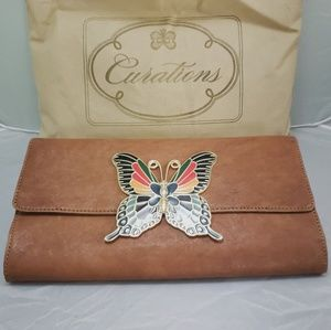 🆕️Curations Clutch Leather Wallet Big Butterfly